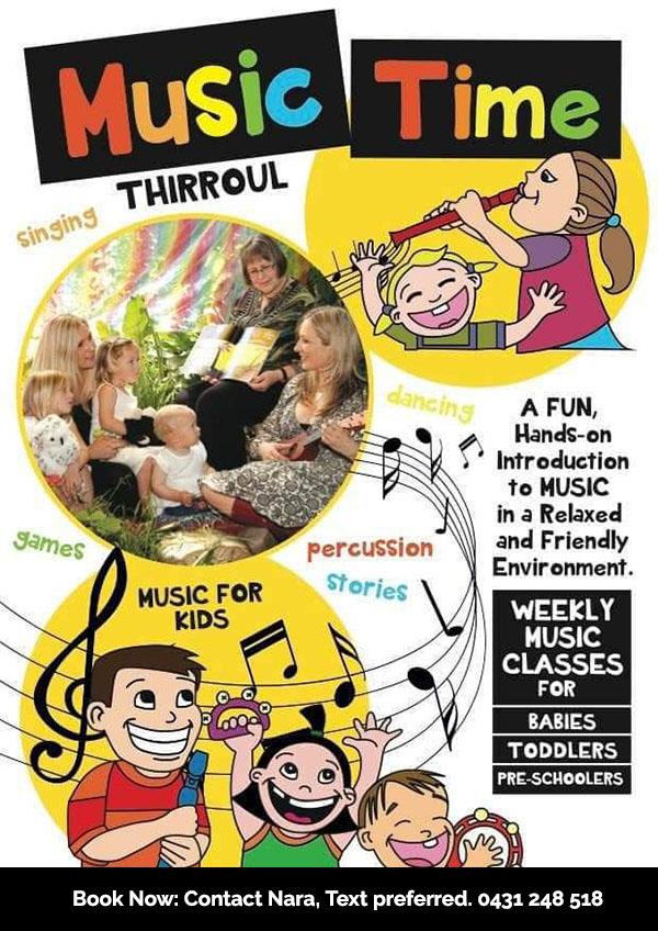 Life Rhythms Music, Music Workshops. Music Time at Thirroul.